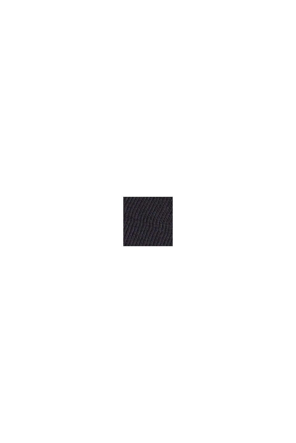 T-shirt à découpes, coton biologique, BLACK, swatch