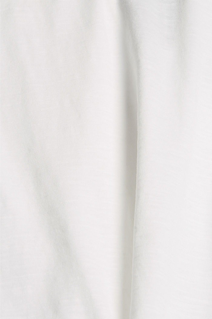 T-shirt with cut-out, organic cotton, OFF WHITE, detail image number 4