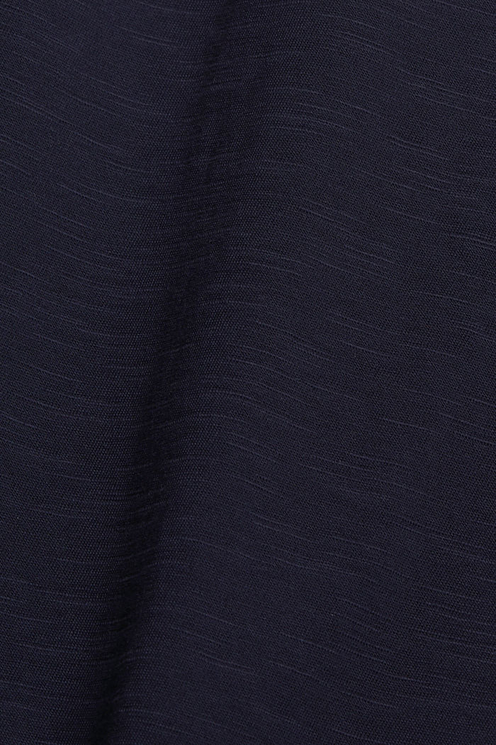 T-Shirt mit Cut-Out, Organic Cotton, NAVY, detail image number 4