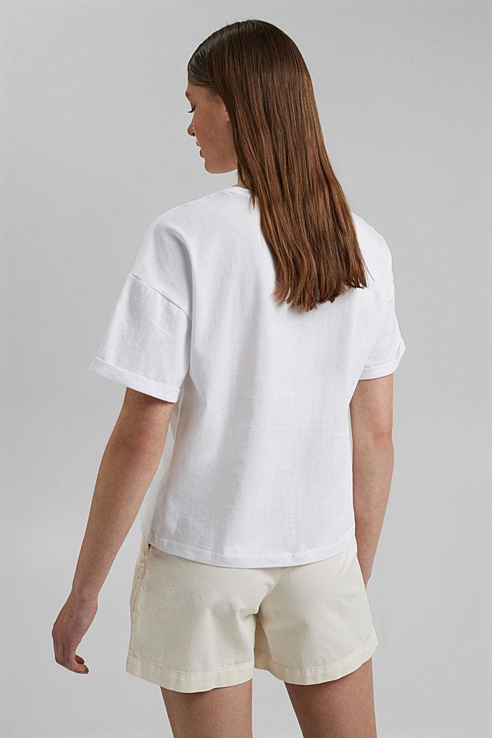 T-Shirt mit Foto-Print, 100% Baumwolle, WHITE, detail image number 3