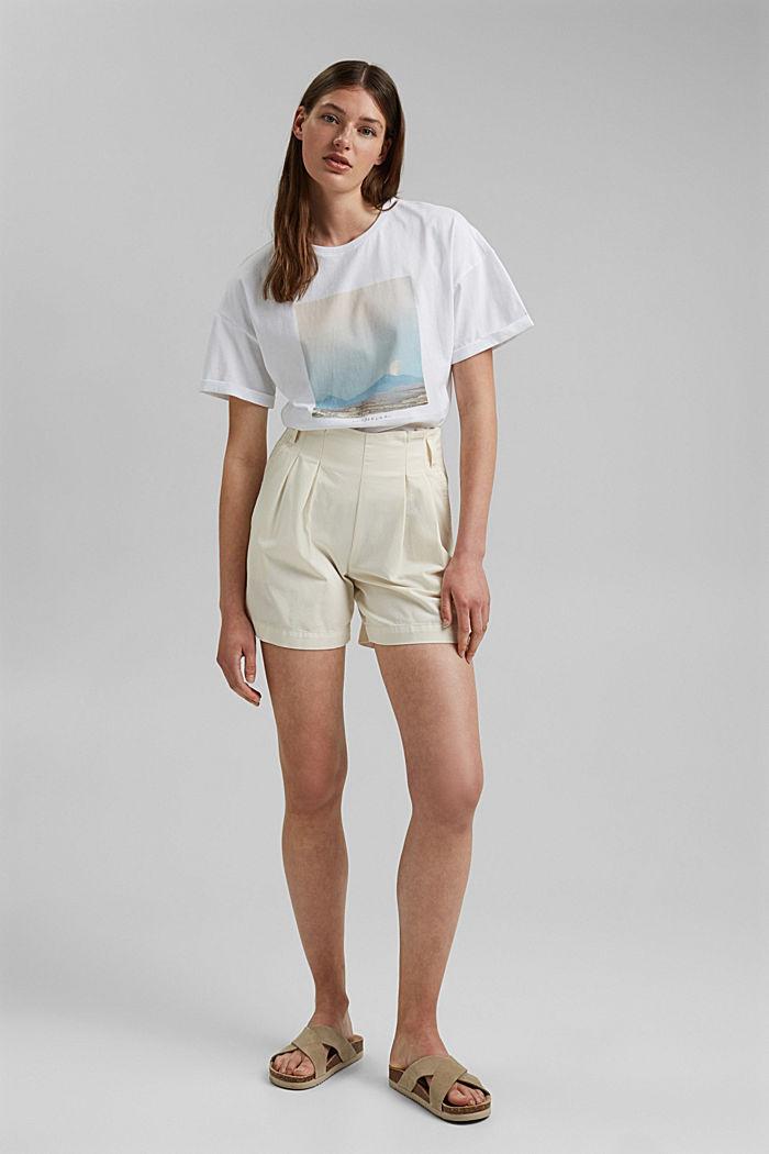 T-Shirt mit Foto-Print, 100% Baumwolle, WHITE, detail image number 1