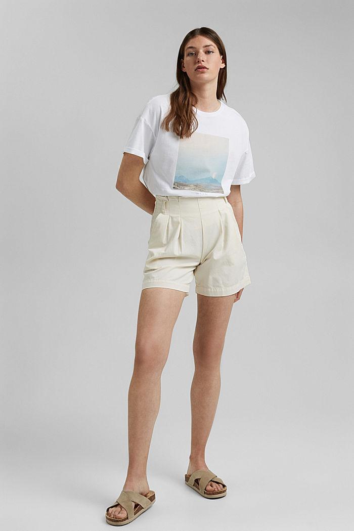 T-Shirt mit Foto-Print, 100% Baumwolle, WHITE, detail image number 5