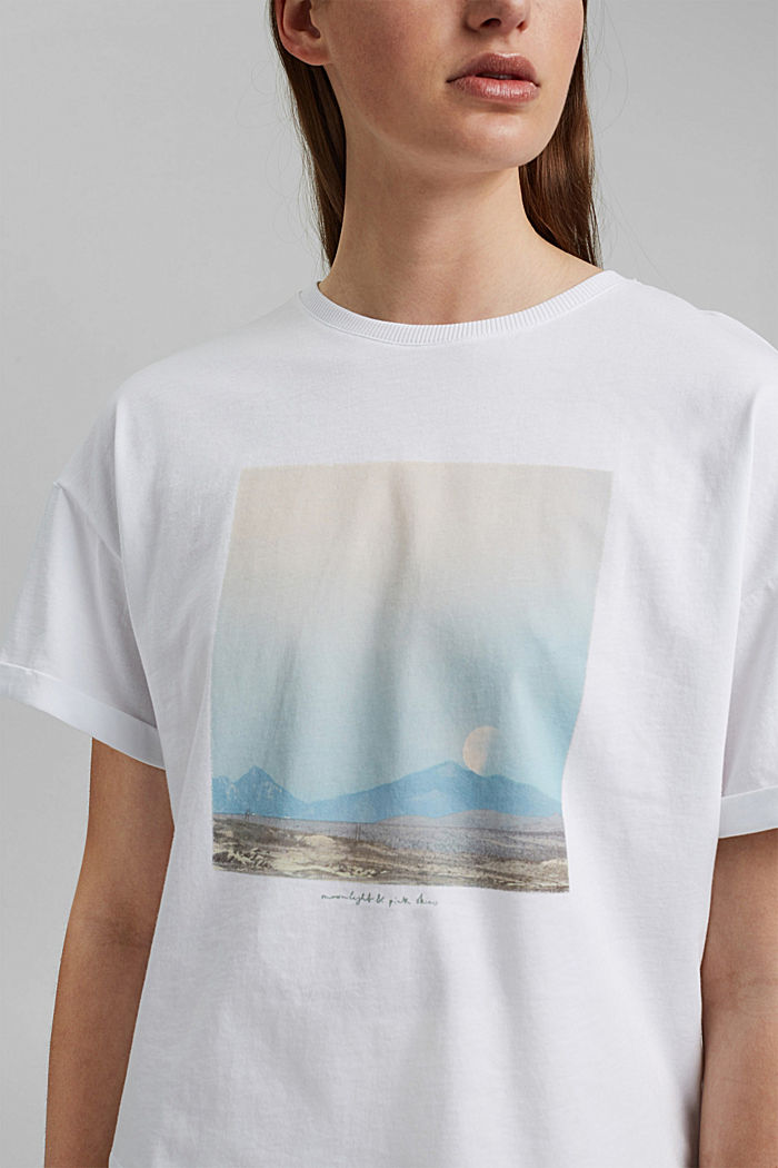 T-Shirt mit Foto-Print, 100% Baumwolle, WHITE, detail image number 2