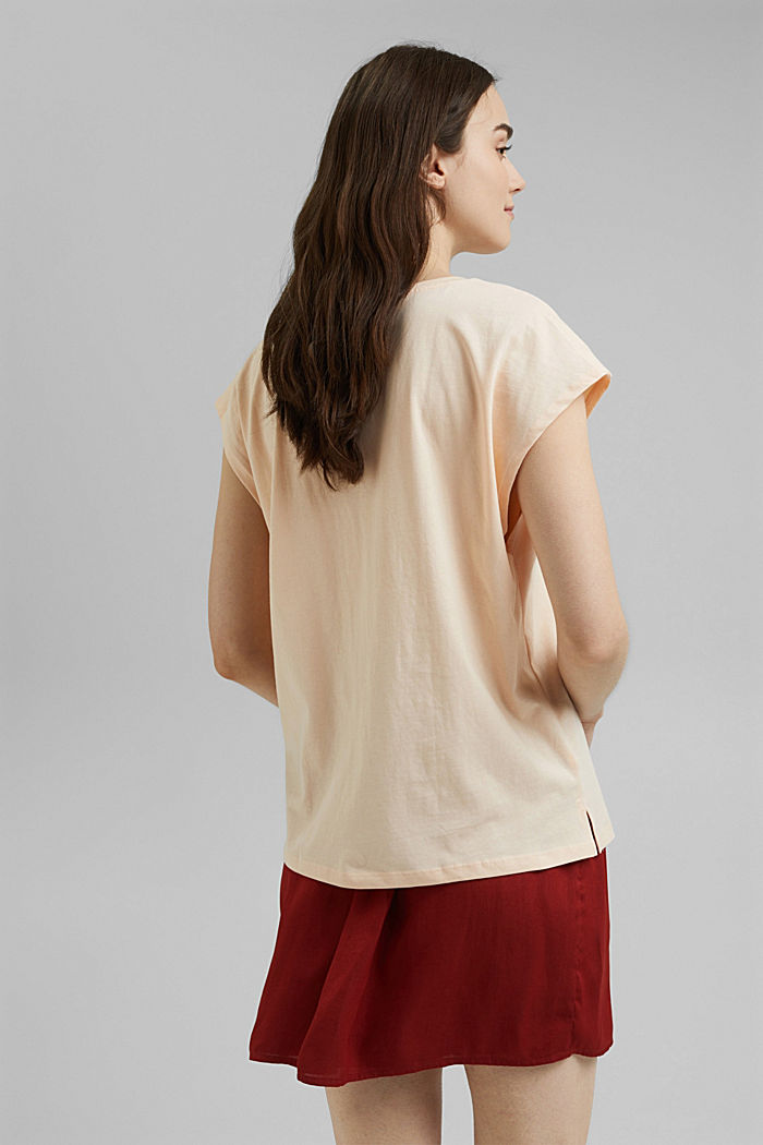 Top with embroidery, organic cotton, NUDE, detail image number 3
