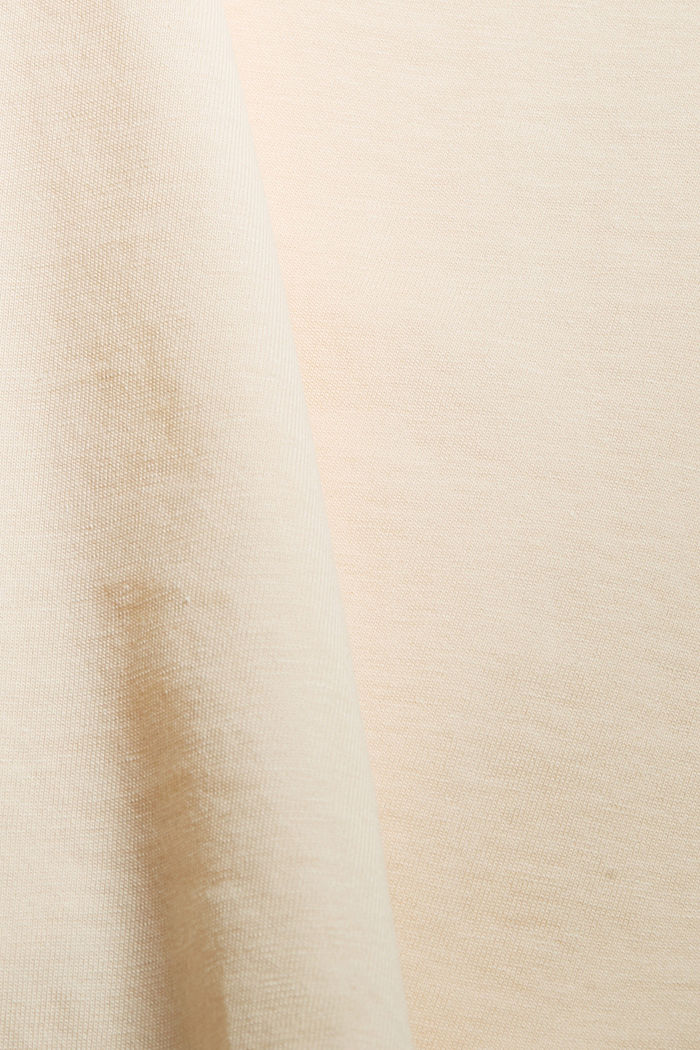 Top with embroidery, organic cotton, NUDE, detail image number 4