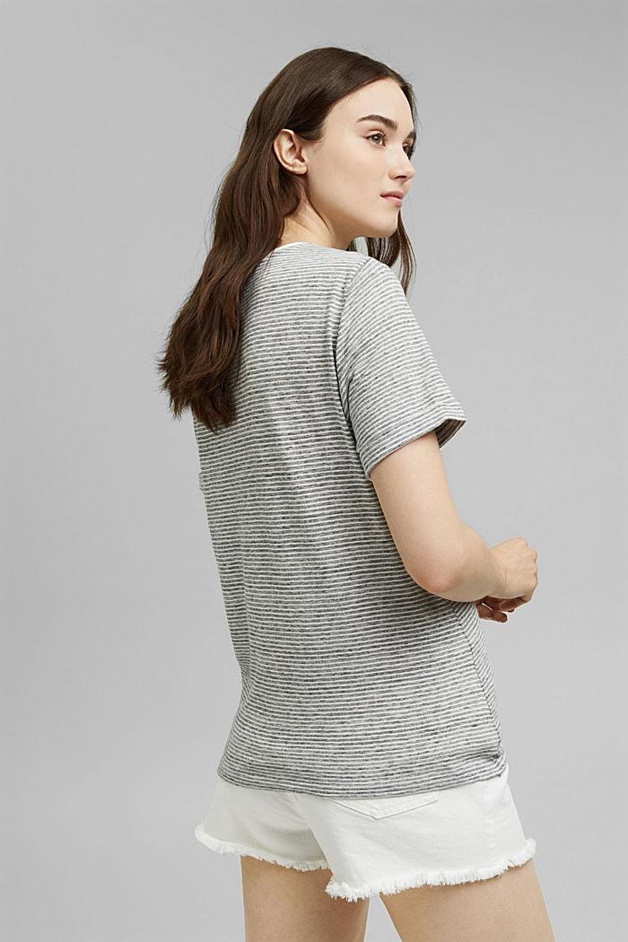 T-Shirt mit Streifen und Knoten, NAVY, detail image number 3