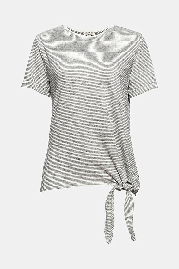 T-Shirt mit Streifen und Knoten