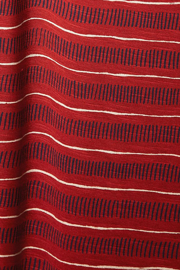 Printed sleeveless top, 100% organic cotton, TERRACOTTA, detail image number 4