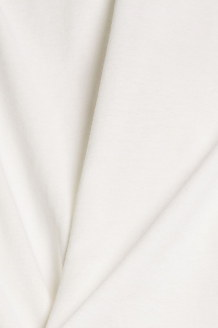 T-shirt with cloth sleeves and broderie anglaise, OFF WHITE, detail image number 4