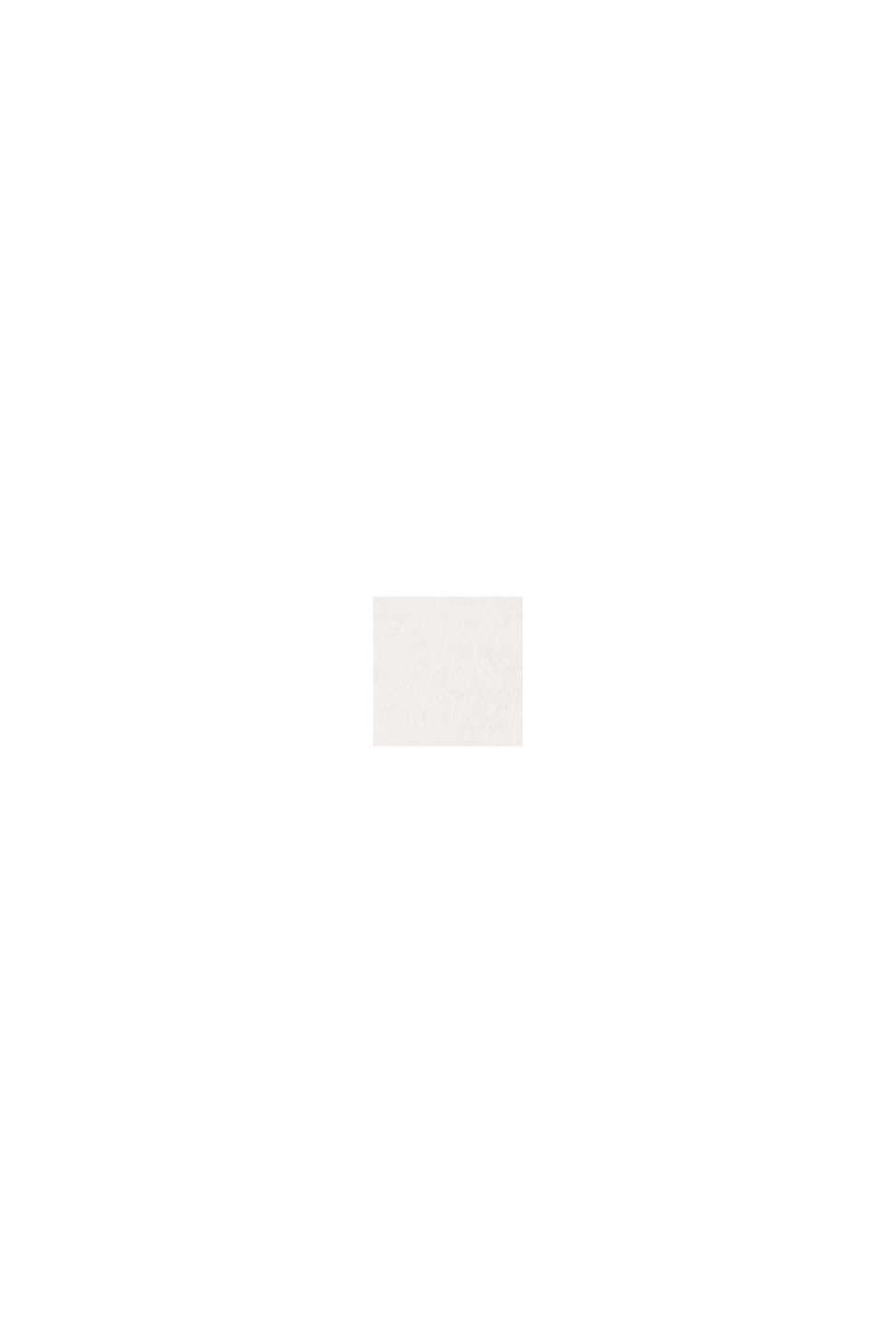 Camiseta con mangas de tela y bordado calado, OFF WHITE, swatch