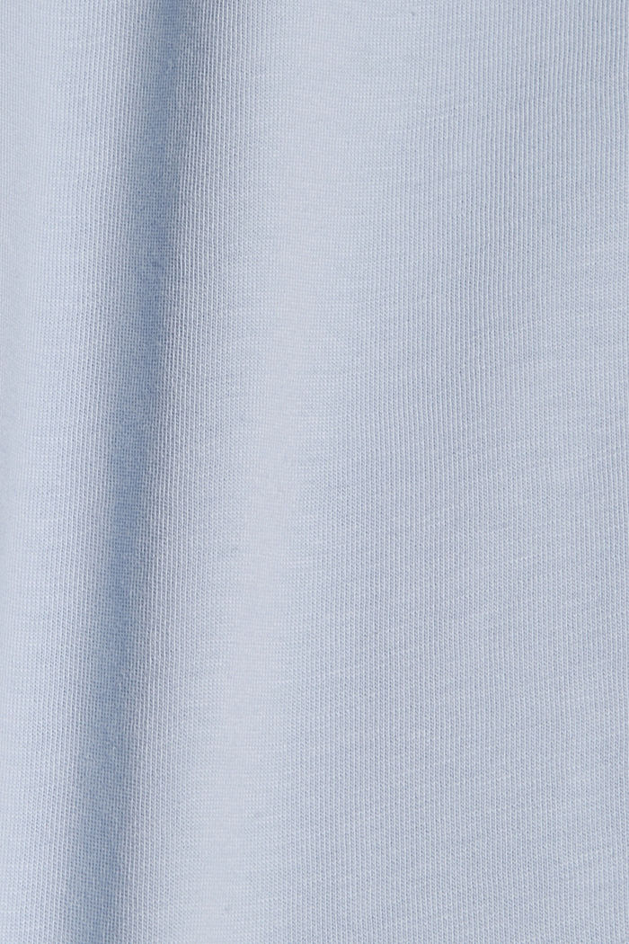 T-shirt with cloth sleeves and broderie anglaise, LIGHT BLUE LAVENDER, detail image number 4