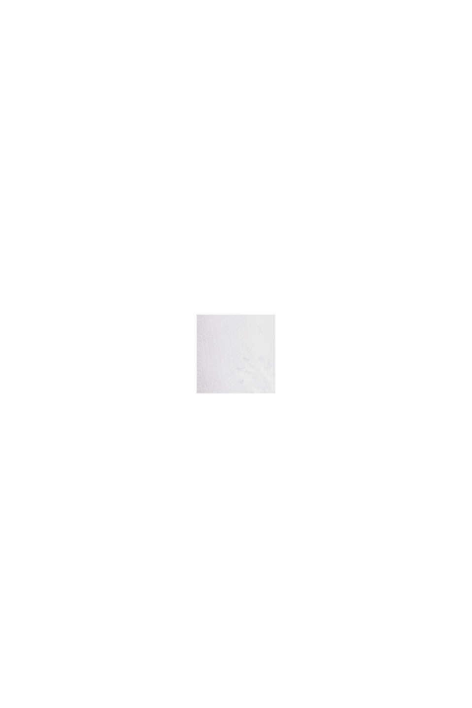 T-Shirt im Material-Mix mit Lochstickerei, WHITE, swatch