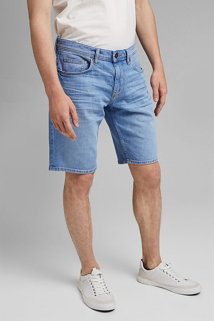 Jeans-Bermudas aus Bio-Baumwolle, BLUE LIGHT WASHED, detail image number 0