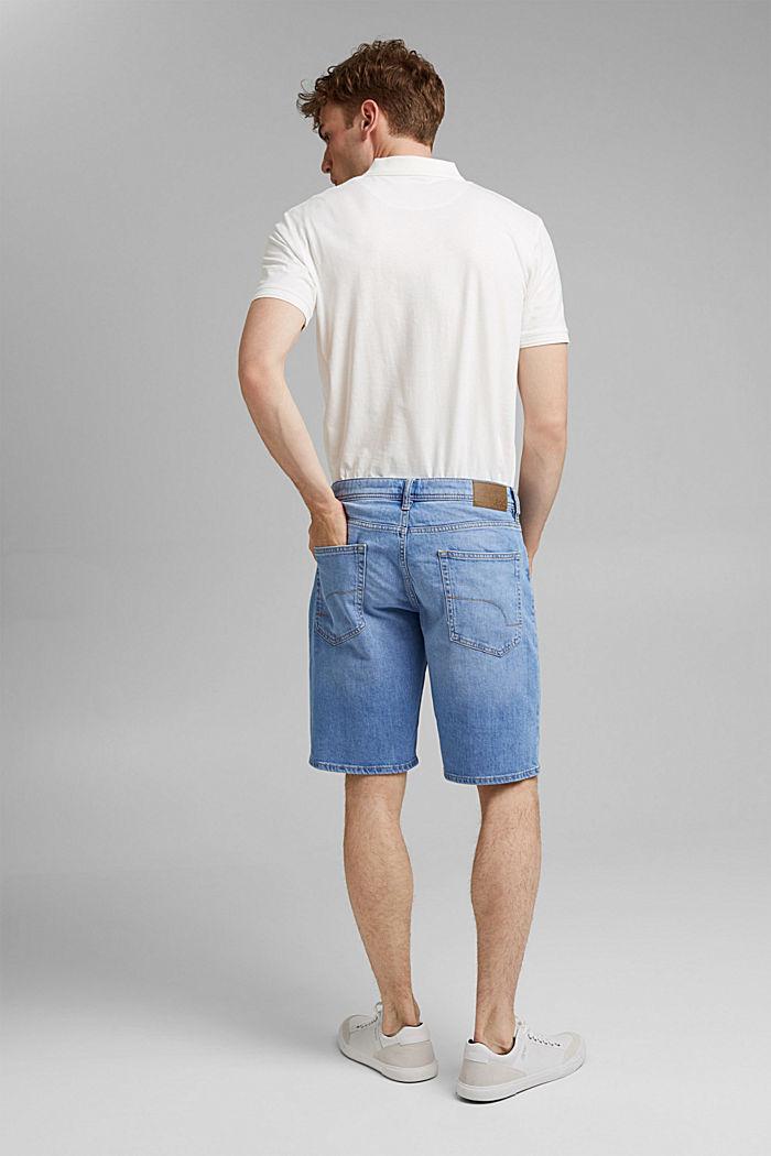 Jeans-Bermudas aus Bio-Baumwolle, BLUE LIGHT WASHED, detail image number 3