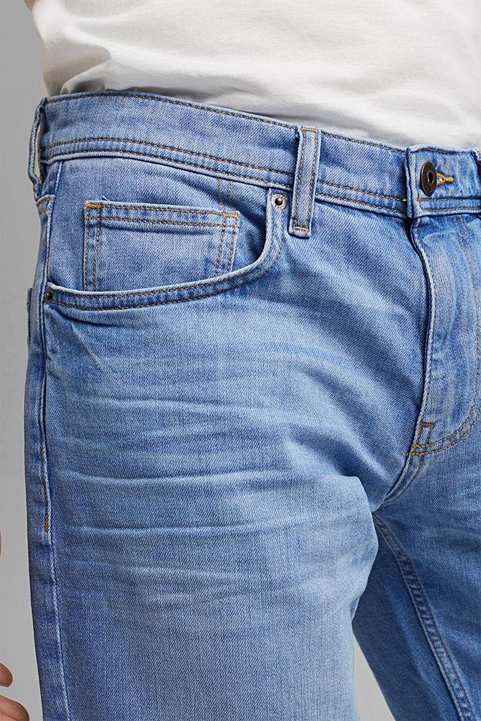 Jeans-Bermudas aus Bio-Baumwolle, BLUE LIGHT WASHED, detail image number 2