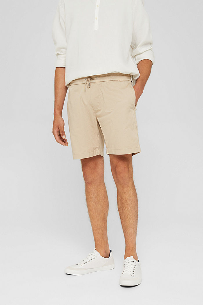 Shorts con coulisse con cordoncino, 100% cotone biologico