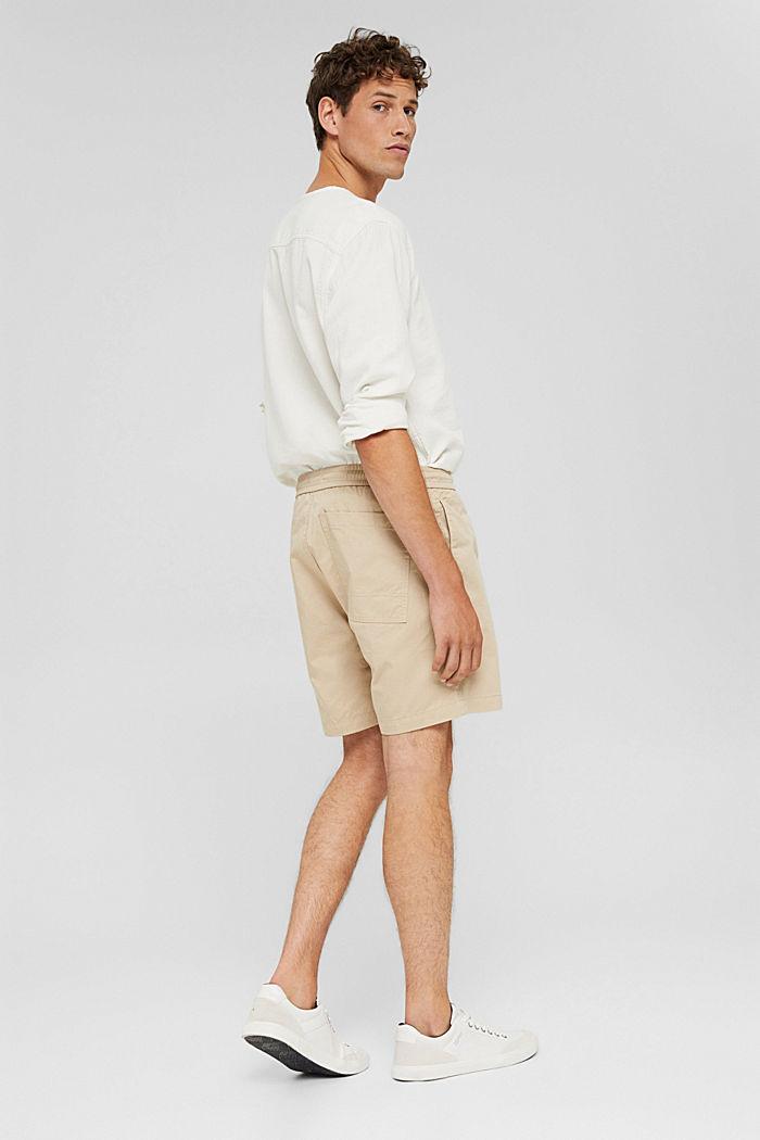 Shorts mit Kordelzugbund, 100% Bio-Baumwolle, LIGHT BEIGE, detail image number 3