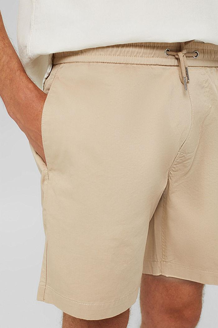 Shorts mit Kordelzugbund, 100% Bio-Baumwolle, LIGHT BEIGE, detail image number 2