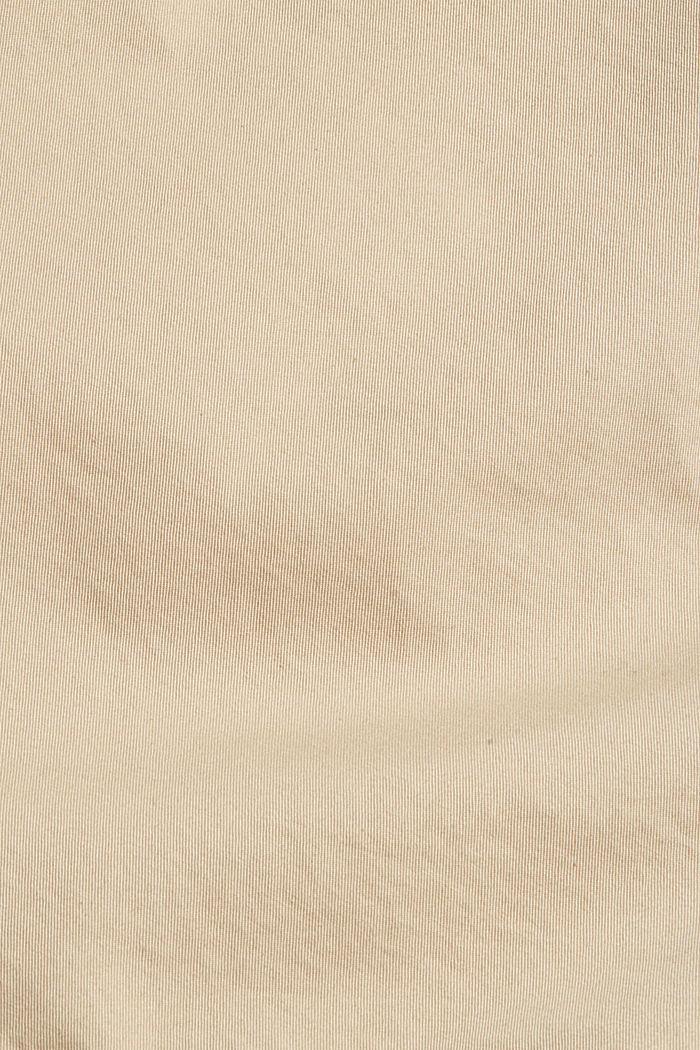 Shorts mit Kordelzugbund, 100% Bio-Baumwolle, LIGHT BEIGE, detail image number 4
