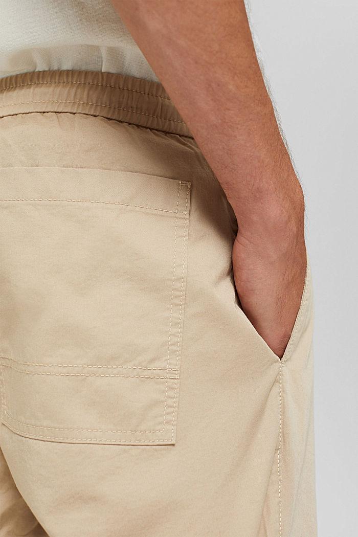 Shorts mit Kordelzugbund, 100% Bio-Baumwolle, LIGHT BEIGE, detail image number 5