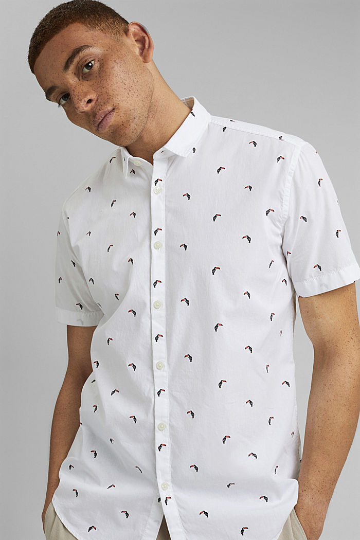 Lyhythihainen, painokuvioitu paita, luomupuuvillaa, OFF WHITE, detail image number 5