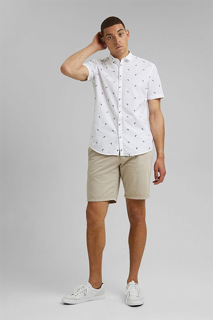 Lyhythihainen, painokuvioitu paita, luomupuuvillaa, OFF WHITE, detail image number 1