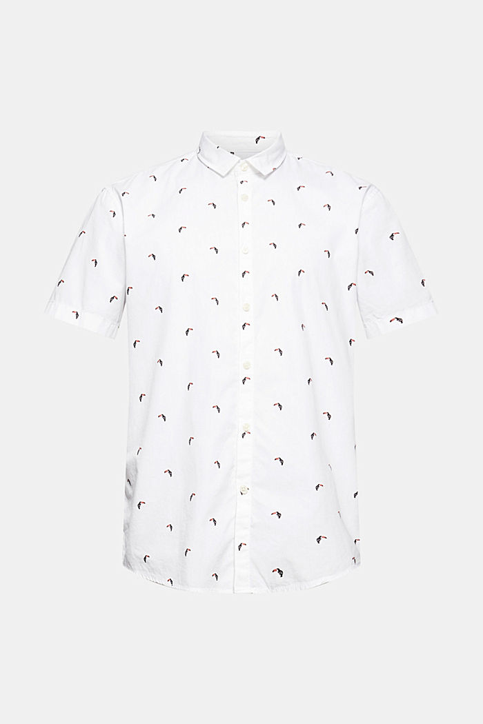 Short-sleeved shirt with print, organic cotton