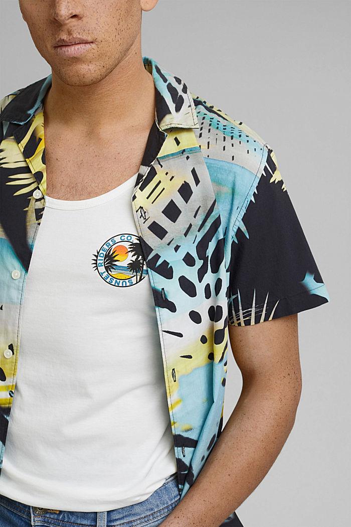 Jersey-Tanktop mit Print, Organic Cotton, OFF WHITE, detail image number 1