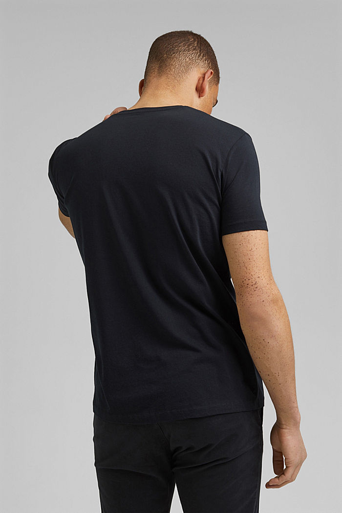 Jersey T-shirt with a print, organic cotton, BLACK, detail image number 3