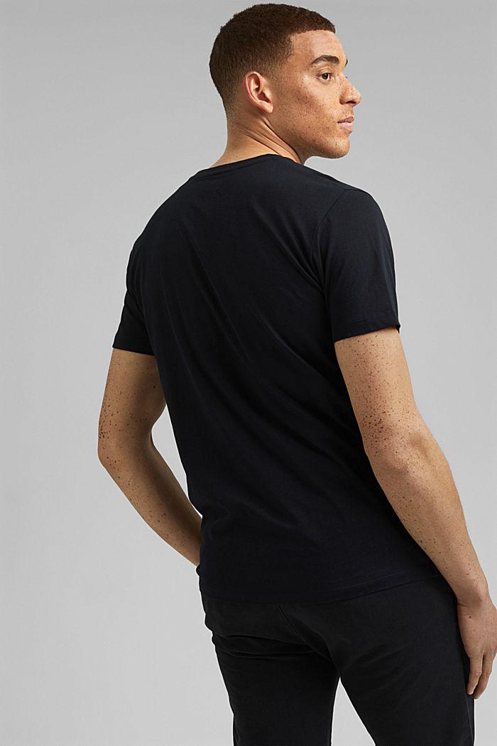 Jersey T-shirt met print, biologisch katoen, BLACK, detail image number 3