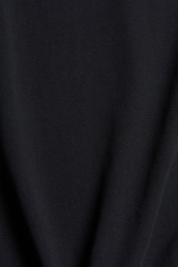 Jersey T-shirt met print, biologisch katoen, BLACK, detail image number 4
