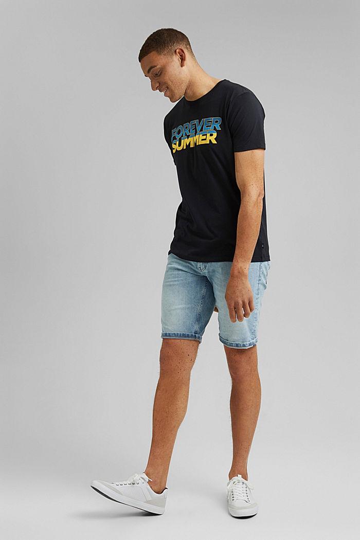 Painettu jersey-T-paita luomupuuvillaa