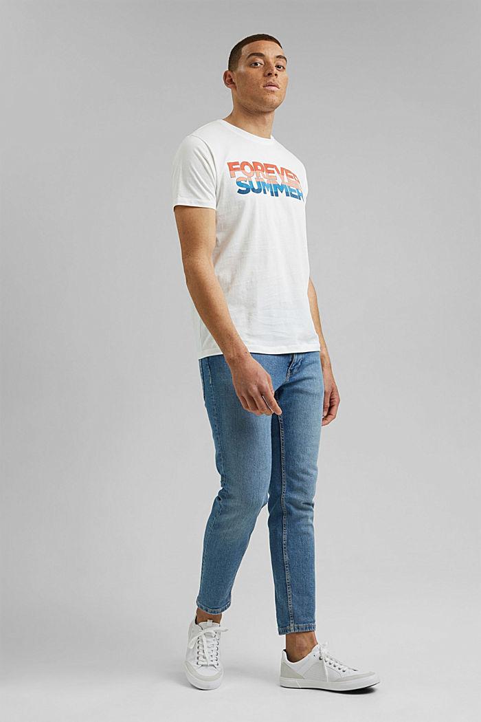 Jersey T-shirt met print, biologisch katoen, OFF WHITE, detail image number 2