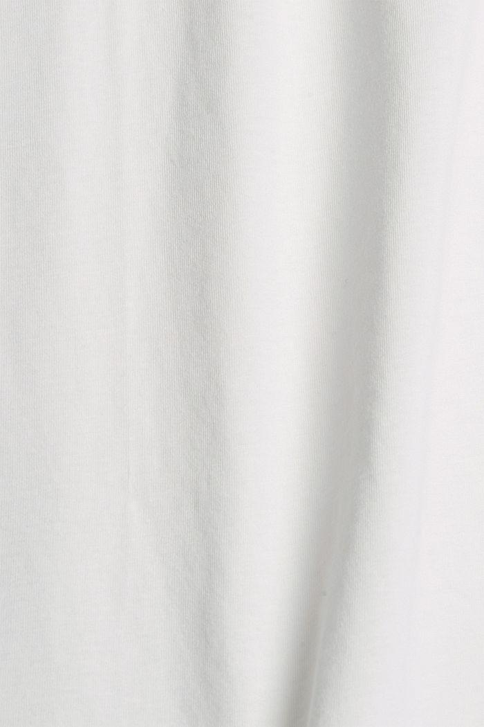 Jersey T-shirt met print, biologisch katoen, OFF WHITE, detail image number 4