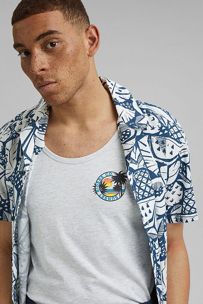 Top in jersey con stampa, cotone biologico