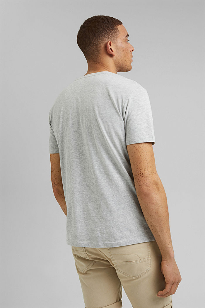 Painettu jersey-T-paita luomupuuvillaa, LIGHT GREY, detail image number 3