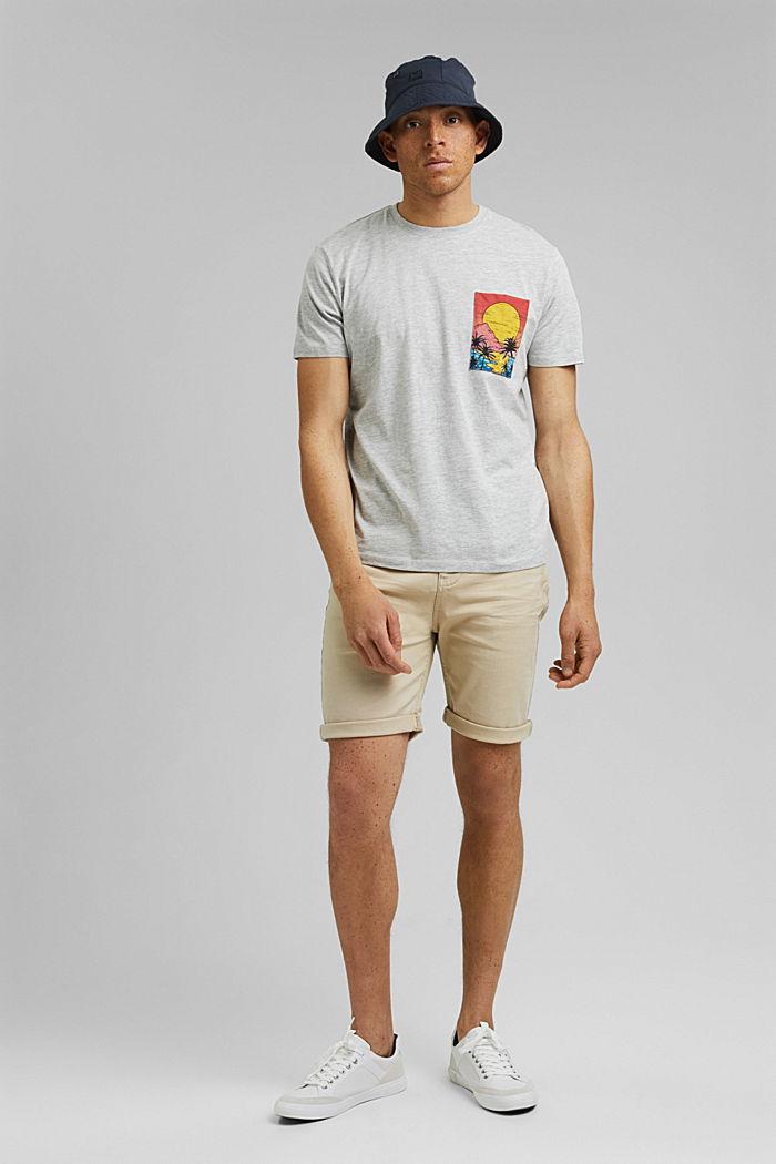 Painettu jersey-T-paita luomupuuvillaa, LIGHT GREY, detail image number 2