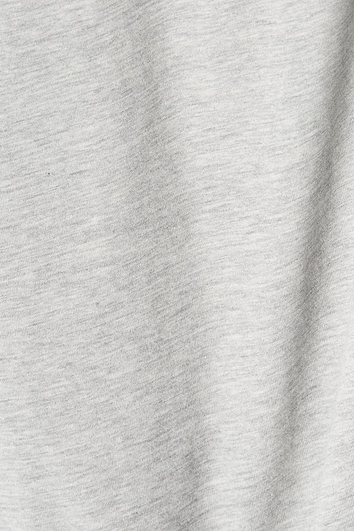 Painettu jersey-T-paita luomupuuvillaa, LIGHT GREY, detail image number 4