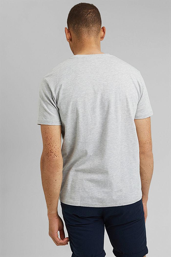 Jersey-T-Shirt mit Print, Organic Cotton, LIGHT GREY, detail image number 3