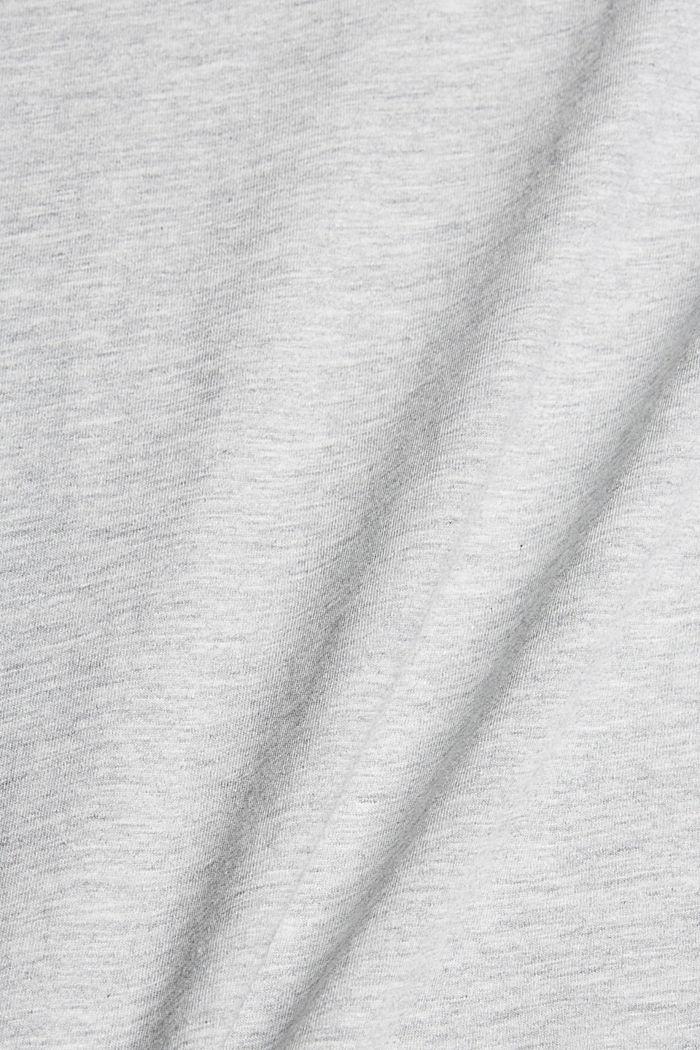 Jersey-T-Shirt mit Print, Organic Cotton, LIGHT GREY, detail image number 4