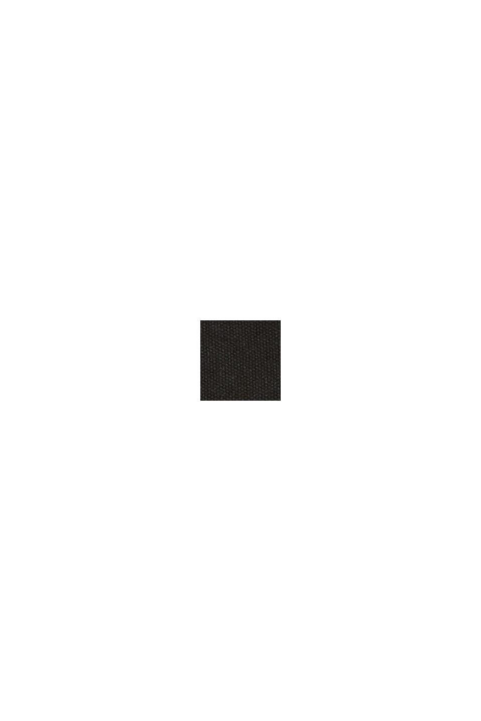 Schoudertas van canvas, BLACK, swatch