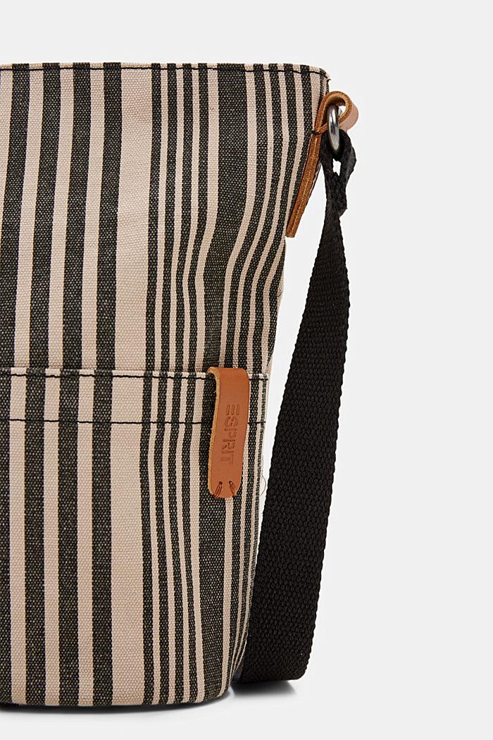 Bolso bandolera de lona, BLACK COLORWAY, detail image number 3