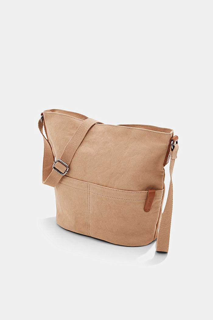 Canvas shoulder bag, BEIGE, detail image number 2