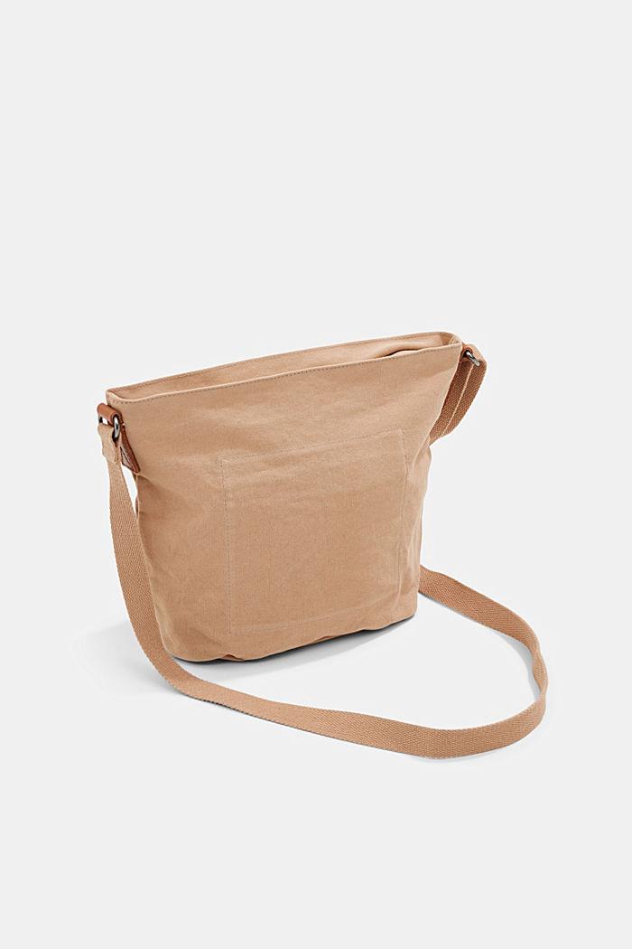 Canvas shoulder bag, BEIGE, detail image number 5