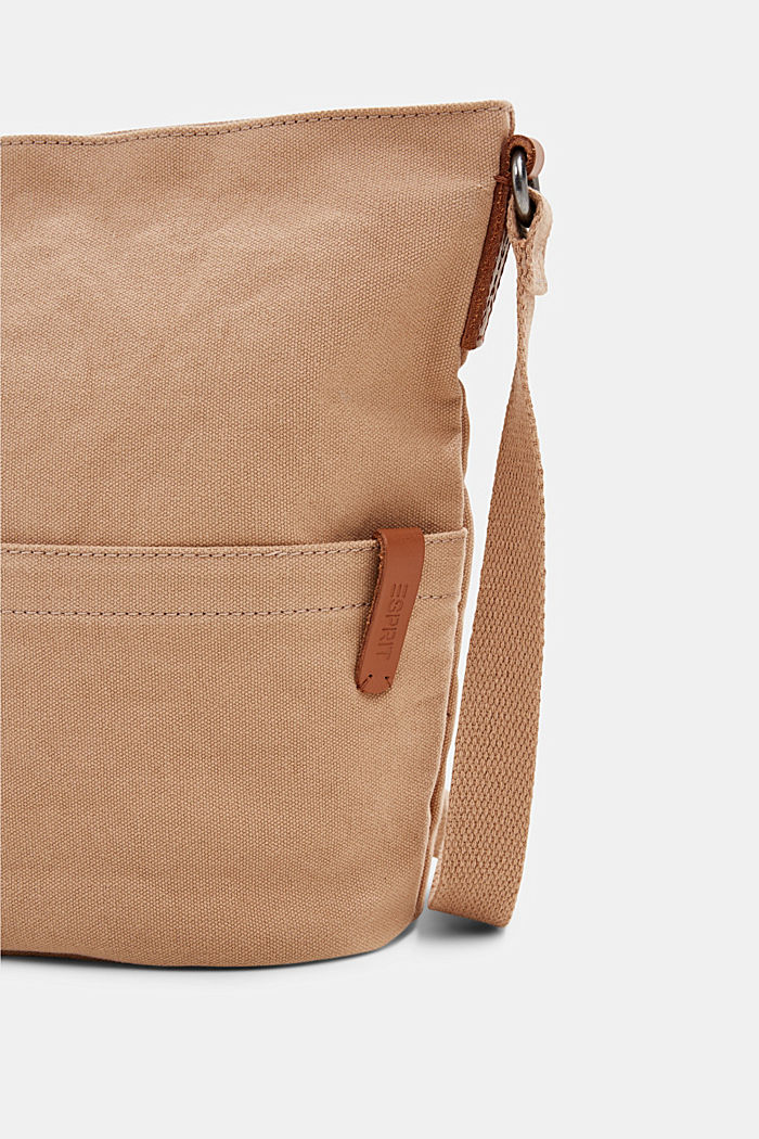 Canvas shoulder bag, BEIGE, detail image number 3