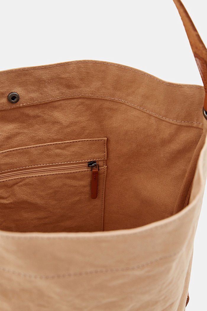 Hobo bag made of canvas and leather