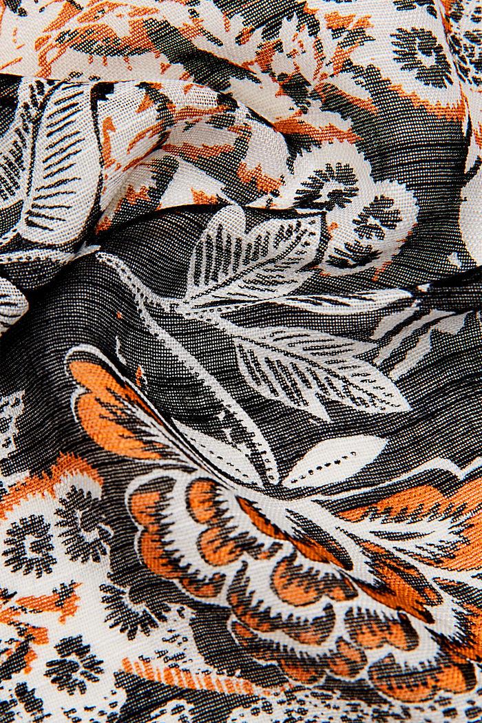 Schal mit Dschungel-Print, LENZING™ ECOVERO™, BLACK, detail image number 2