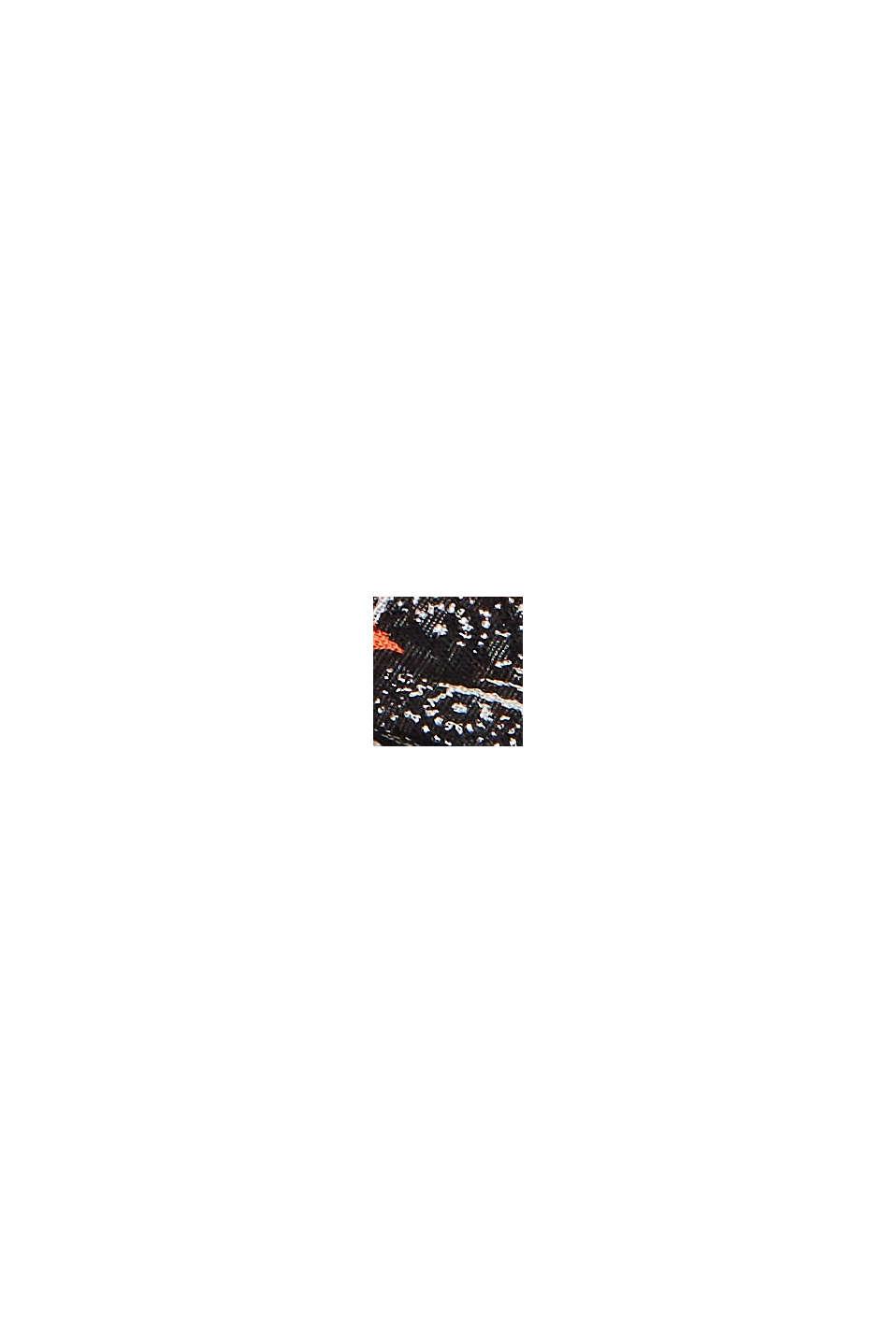 Schal mit Dschungel-Print, LENZING™ ECOVERO™, BLACK, swatch