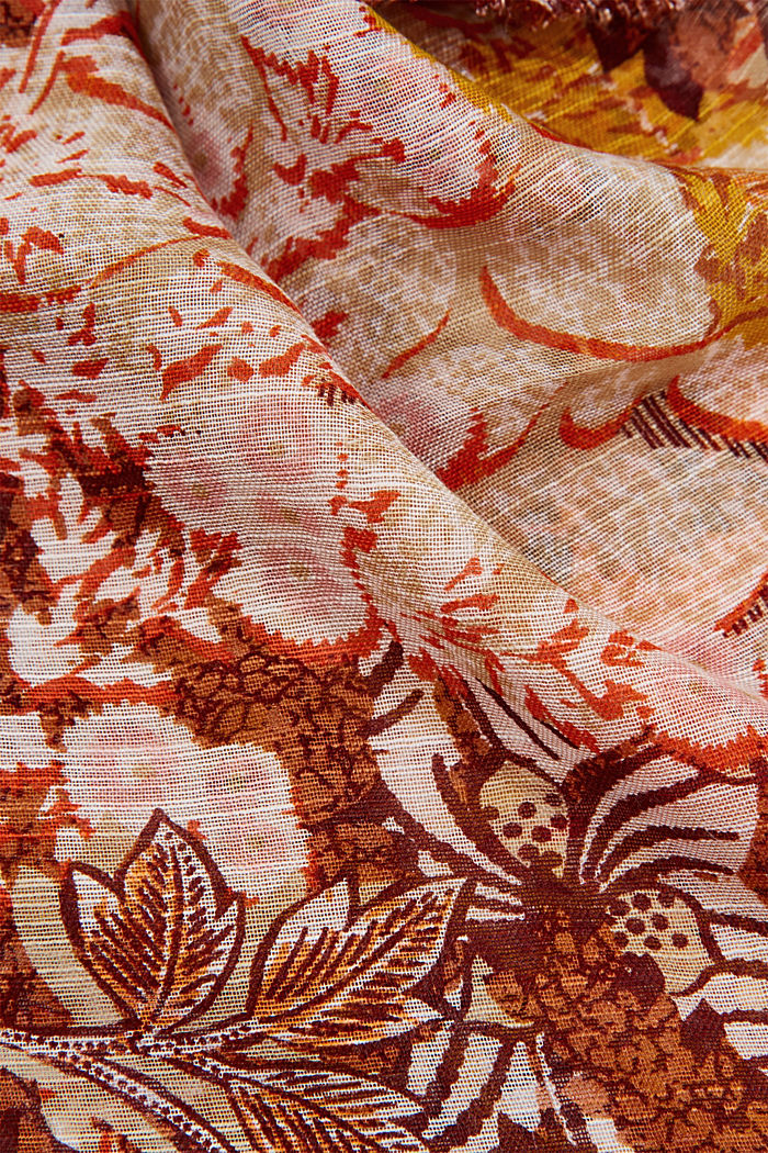 Schal mit Dschungel-Print, LENZING™ ECOVERO™, CAMEL, detail image number 2