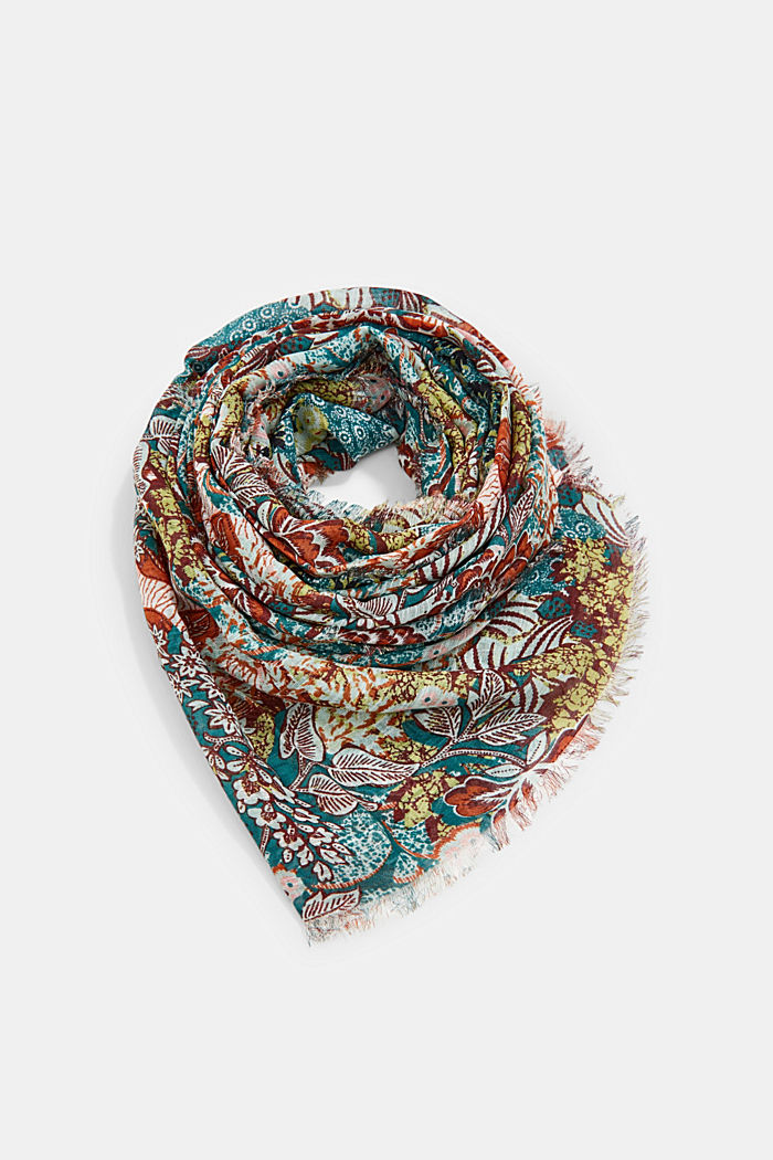 Scarf with a jungle print, LENZING™ ECOVERO™